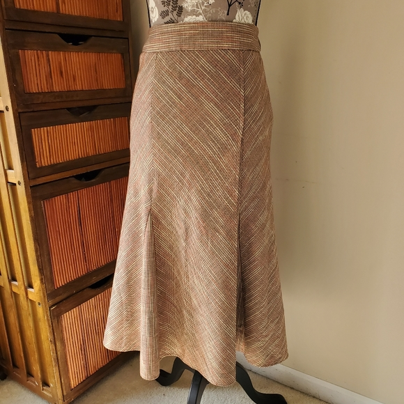 Christopher & Banks Dresses & Skirts - Colors of fall long faux wrap tweed godet skirt 4